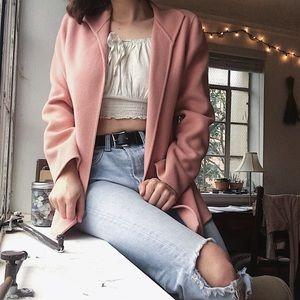Pink Fleece Cardigan